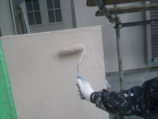 塀の塗装上塗り2回目