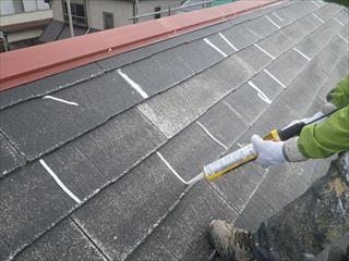 屋根のクラック処理