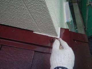 屋根金物上塗り2回目刷毛
