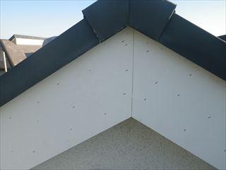 破風板の補修完了