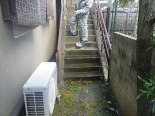 外部階段高圧洗浄