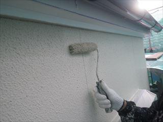 外壁塗装上塗り2回目