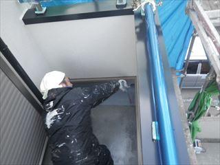 FRP防水トップコート塗り