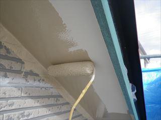 軒塗装上塗り2回目