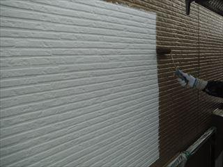 外壁塗装上塗り1回目