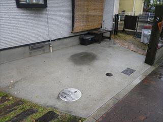 ガレージ土間洗浄後