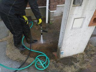 玄関前洗浄