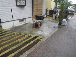 ガレージ土間洗浄前