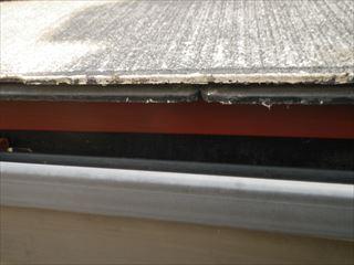 屋根水切り下塗り後