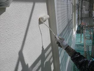 外壁上塗りガイナ2回目