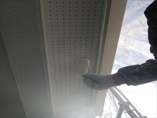 軒の塗装上塗り2回目