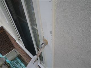 SD製窓枠下塗り