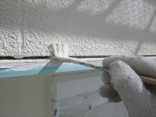外壁上塗り刷毛塗り
