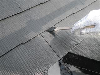 屋根の上塗り刷毛