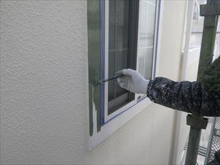 窓枠サイディングの上塗り2回目