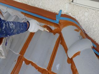 下屋上塗り刷毛