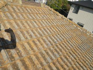 大屋根高圧洗浄前