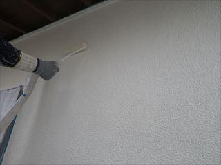 1階外壁の上塗り塗装2回目