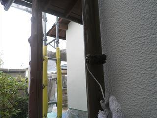 竪樋上塗り塗装2回目