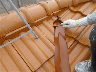屋根金物上塗り