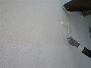 1階外壁の上塗り1回目