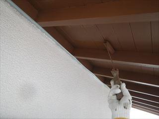 軒の上塗り塗装2回目