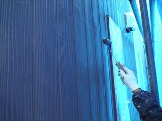 外壁上塗り塗装2回目