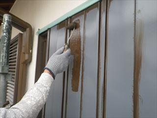 アコーディオン雨戸の上塗り