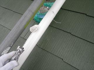 屋根這樋上塗り2回目