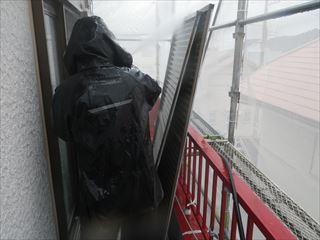 雨戸の内側の洗浄
