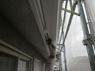 軒樋上塗り1回目