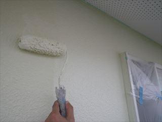 2階外壁ガイナ上塗り2回目
