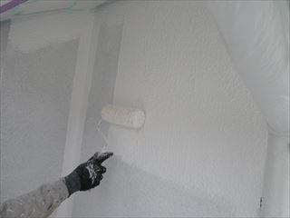 西面北面外壁下塗り2回目