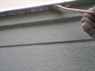 2階外壁刷毛