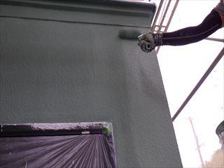 1階外壁ガイナ上塗り3回目