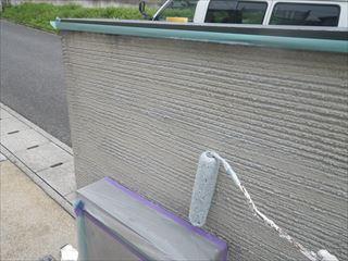 門塀の下塗り