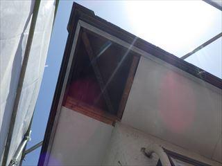2階軒の有孔ボード撤去