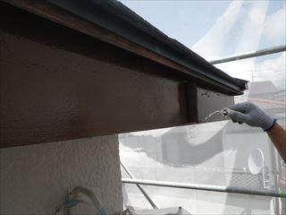 木製破風板上塗り2回目