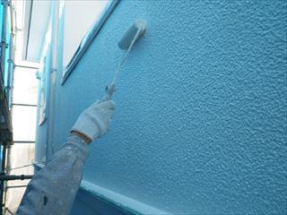 2階外壁の上塗り2回目