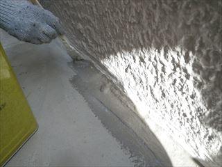 ベランダ土間水性塗布防水中塗り刷毛
