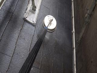 下屋の高圧洗浄