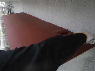 庇の錆止め塗装