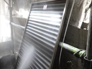 雨戸内側の洗浄