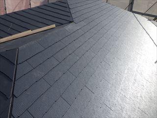 大屋根カラーベスト葺き終了