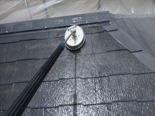 大屋根の高圧洗浄