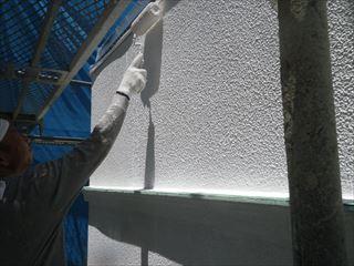 外壁下塗りパターン塗り