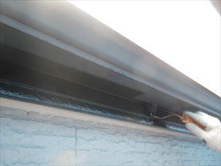 破風と軒樋の上塗り1回目