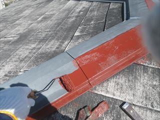 屋根金物下塗り