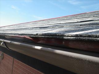 屋根水切り下塗り