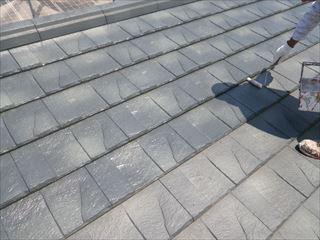 大屋根の上塗り1回目